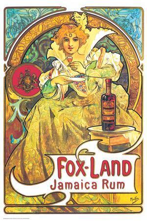Alphonse Mucha- Fox Land Jamaica Rum
