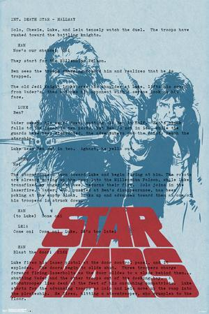 Star Wars- Han And Chewbacca Script Page