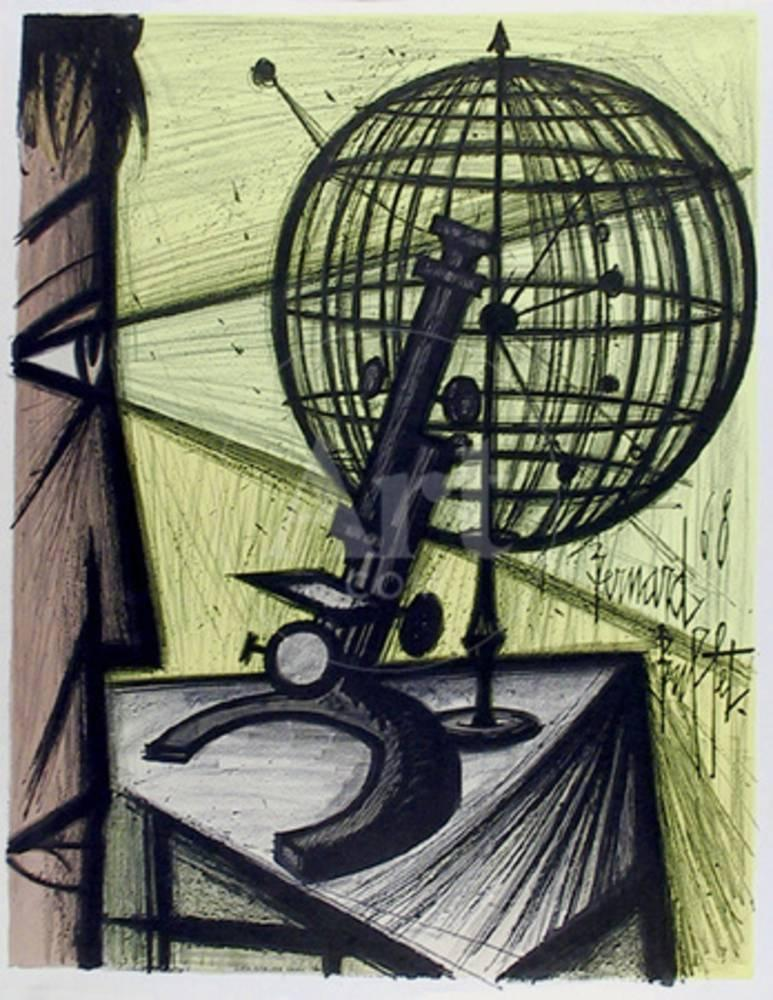 Microscope Collectable Print By Bernard Buffet At