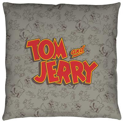 Tom And Jerry - Logo Throw Pillow