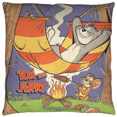 Tom And Jerry - Rest And Relaxation Throw Pillow