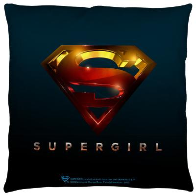 Supergirl - Logo Throw Pillow