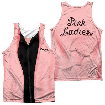 Tank Top: Grease- Rizzo Pink Ladies (Front/Back)