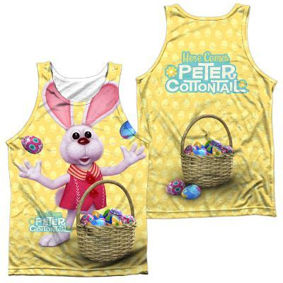 Tank Top: Here Comes Peter Cottontail - Basket Of Eggs (Front/Back)