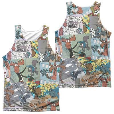 Tank Top: Rocky & Bullwinkle- Collage (Front/Back)