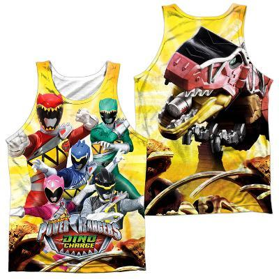 Tank Top: Power Rangers- Charged For Battle (Front/Back)
