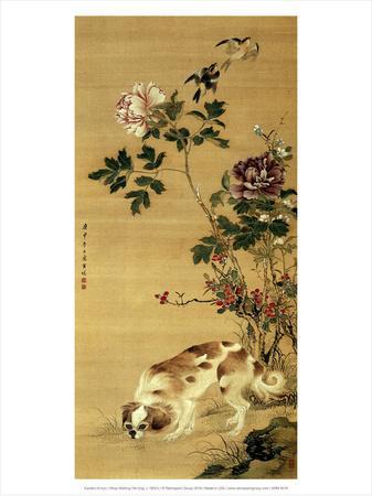 Ninja Walking His Dog, c 1800's