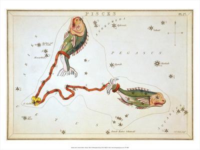Urania's Mirror, Pisces, 1825
