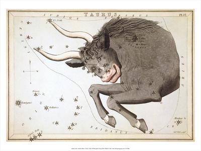 Urania's Mirror, Taurus, 1825