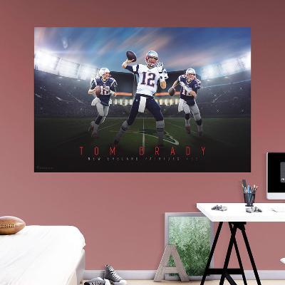 NFL Tom Brady 2015 Montage RealBig Mural