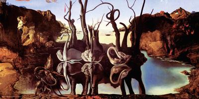 Salvador Dali- Swans Reflecting Elephants