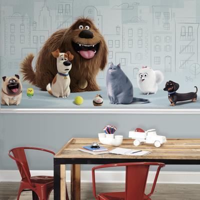 Secret Life of Pets XL Chair Rail Prepasted Mural