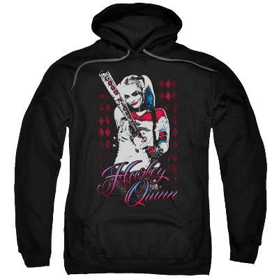 Hoodie: Suicide Squad- Distressed Harley Quinn At Bat