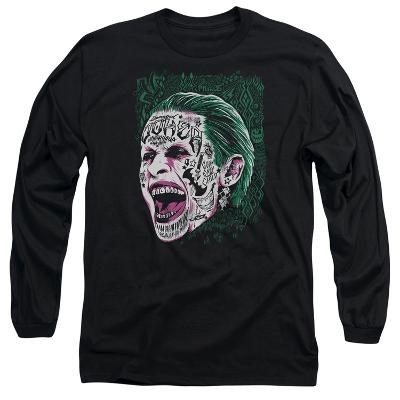 Long Sleeve: Suicide Squad- Joker Tattoo Headshot