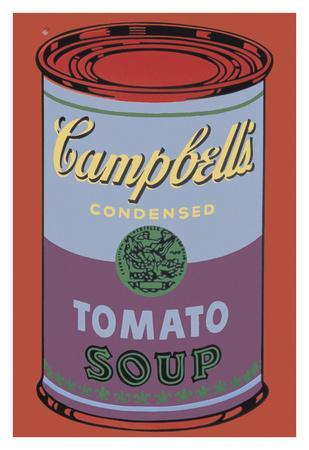 Colored Campbell's Soup Can, 1965 (blue & purple)