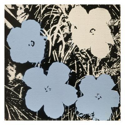 Flowers, 1965 (3 blue, 1 ivory)