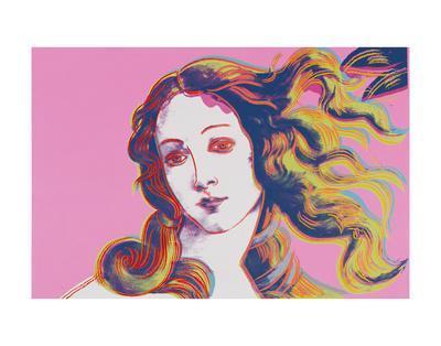 Details of Renaissance Paintings (Sandro Botticelli, Birth of Venus, 1482), 1984 (pink)