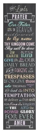 The Lord's Prayer - Chalkboard