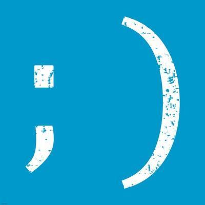 Blue Wink Smile