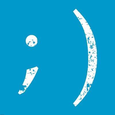 Blue Wink Smiley
