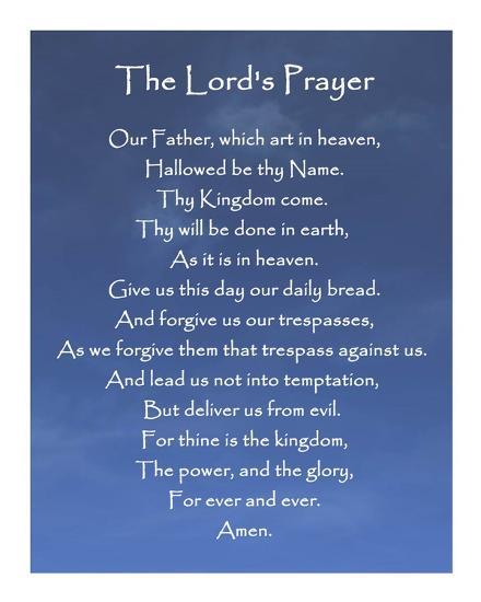 eecb245de4931 The Lord's Prayer - Blue Sky Prints by Veruca Salt at AllPosters.com