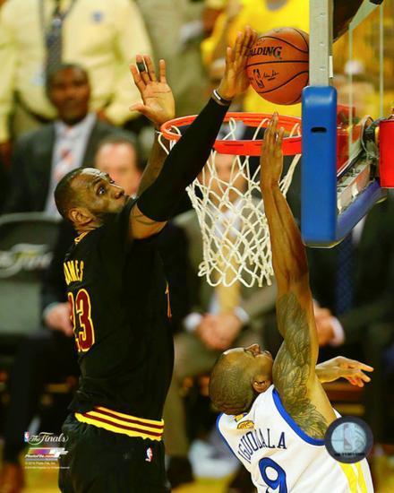 e899fc38cbb5 Lebron James block Game 7 of the 2016 NBA Finals Photo at AllPosters.com