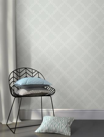 Grey Quatrefoil Peel & Stick Wallpaper