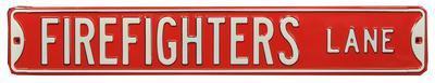 Firefighters Lane Steel Street Sign