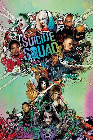 Suicide Squad- Worst Heroes Ever One Sheet