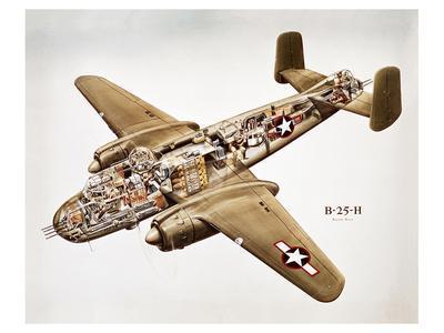 B-25H Mitchell Bomber Layout