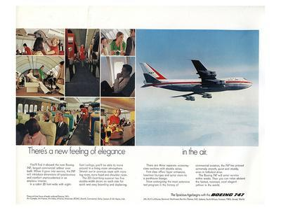 Boeing 747 advertisement from 1969