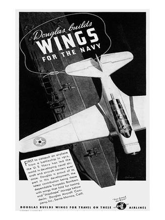 Builds Wings for the Navy Ad