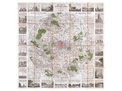 Carte Routière de Paris 1839