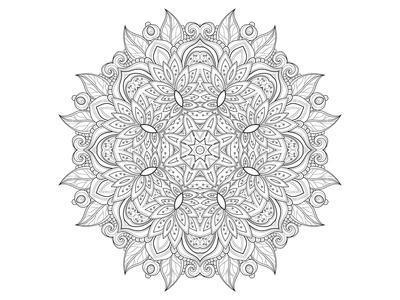 Decorative Amulet Mandala Coloring Art