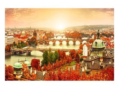Vltava River in PragueCzechia