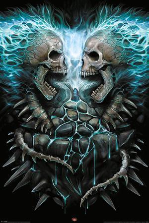 Spiral- Flaming Skull Heart