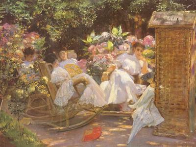 Ladies in a Garden