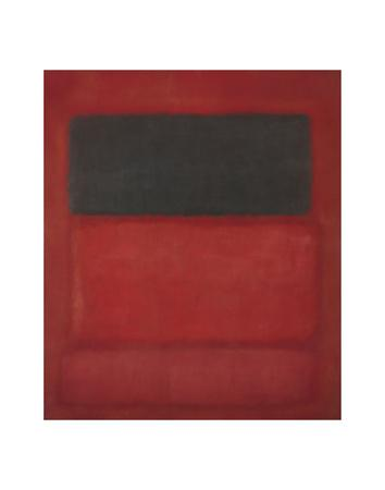 Black over Reds [Black on Red], 1957