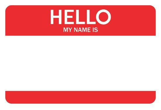 My Name Is Name: Hello My Name Is...(Red) Poster At AllPosters.com