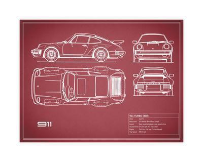 Porsche 911-Turbo 1977  Red
