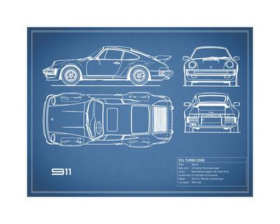 Porsche 911-Turbo 1977 Blue