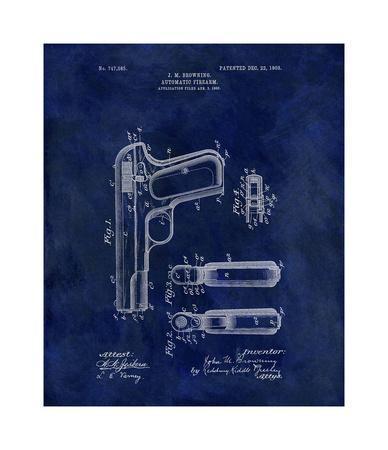 Automatic Firearm, 1902-Blue