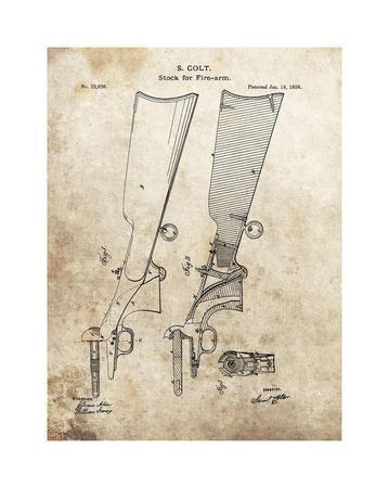 Colt Firearm Stock,1859