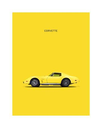 Chev Corvette Yellow