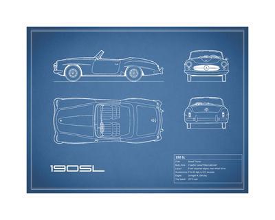 Mercedes 190-SL-Blue