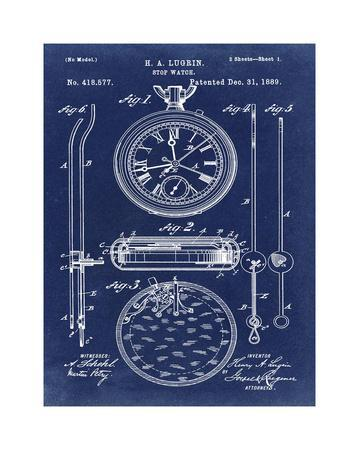 Stop Watch II, 1889-Dark Blue