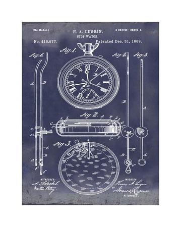 Stop Watch II, 1889-Antique Bl