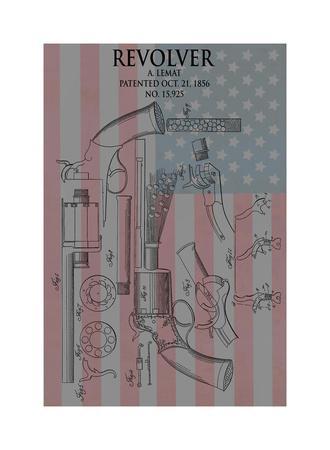 Revolver & Flag, 1856