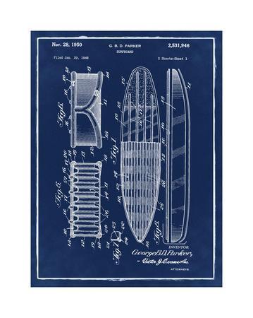 Surfboard, 1948-Blue II