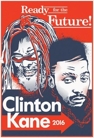 Clinton Kane 2016 (Red, White, & Blue Signboard)